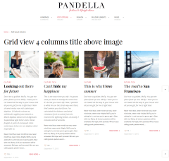 Pandella-Blog-View-4col-WordPress-theme