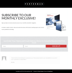 Performag- Lead generation page