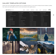 Photography- 40+ gallery templates of this theme