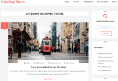 Plain Blog Travel Page