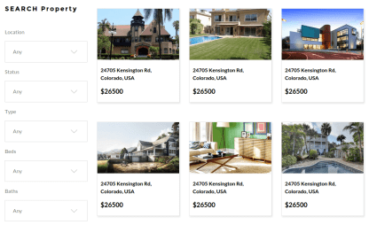 RealHouse and RealCars Property Page