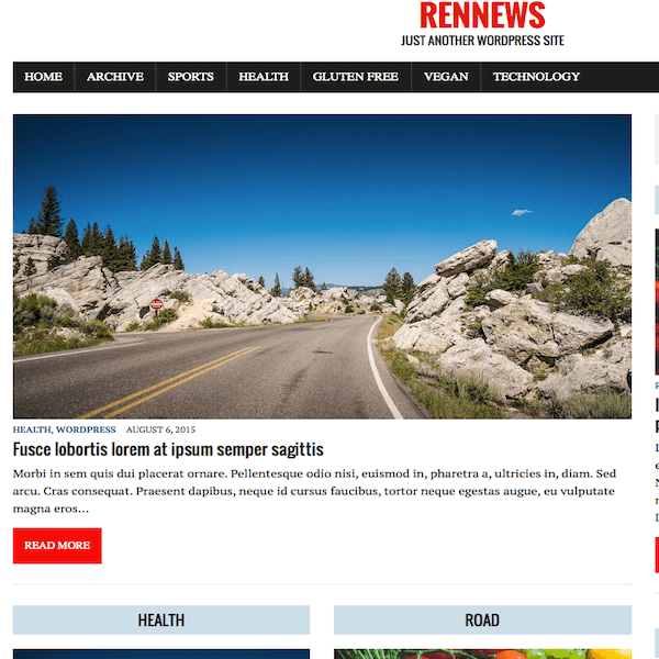 RenNews Child WordPress Theme