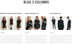 Reverse- Blog page with 3 columns