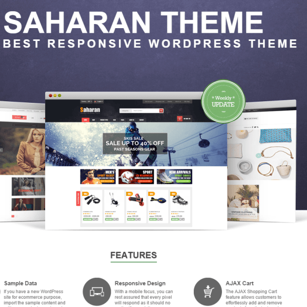 SAHARAN- A responsive Ecommerce theme for WordPress