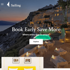 Sailing- A WordPress theme for Resorts, Hotels and Restuarants