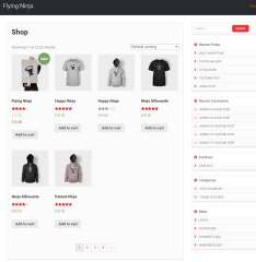 Shop page of Mediaphase Lite theme