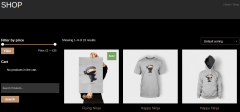Shop page of bodyguard