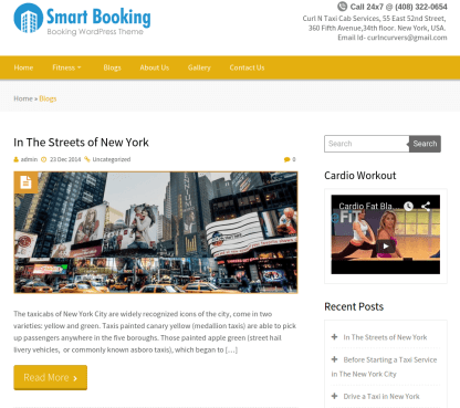 Smart booking Wordpress theme for Online appointmemnt system