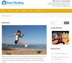 SmartBooking-Workout-page