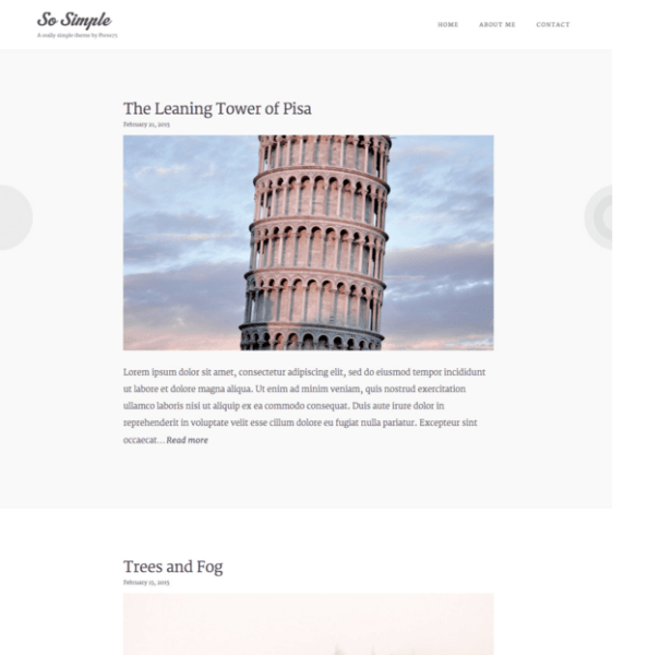 So simple – Blog and Magazine WordPress theme