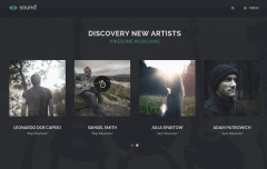 Sound Music Theme New Artists Page