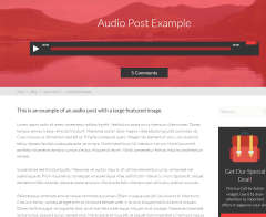 Squared – Blog page with Audio post format