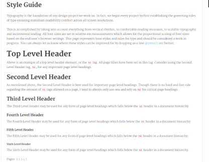 Style guide of Clear News theme