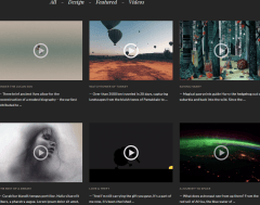 TV Elements- Filterable video portfolio items