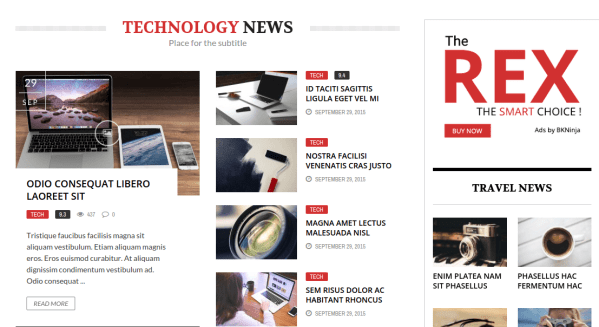 The REX Technology News Section
