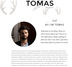 Tomas About Us Page