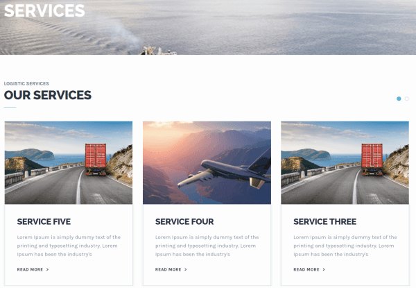 Transport Services Page