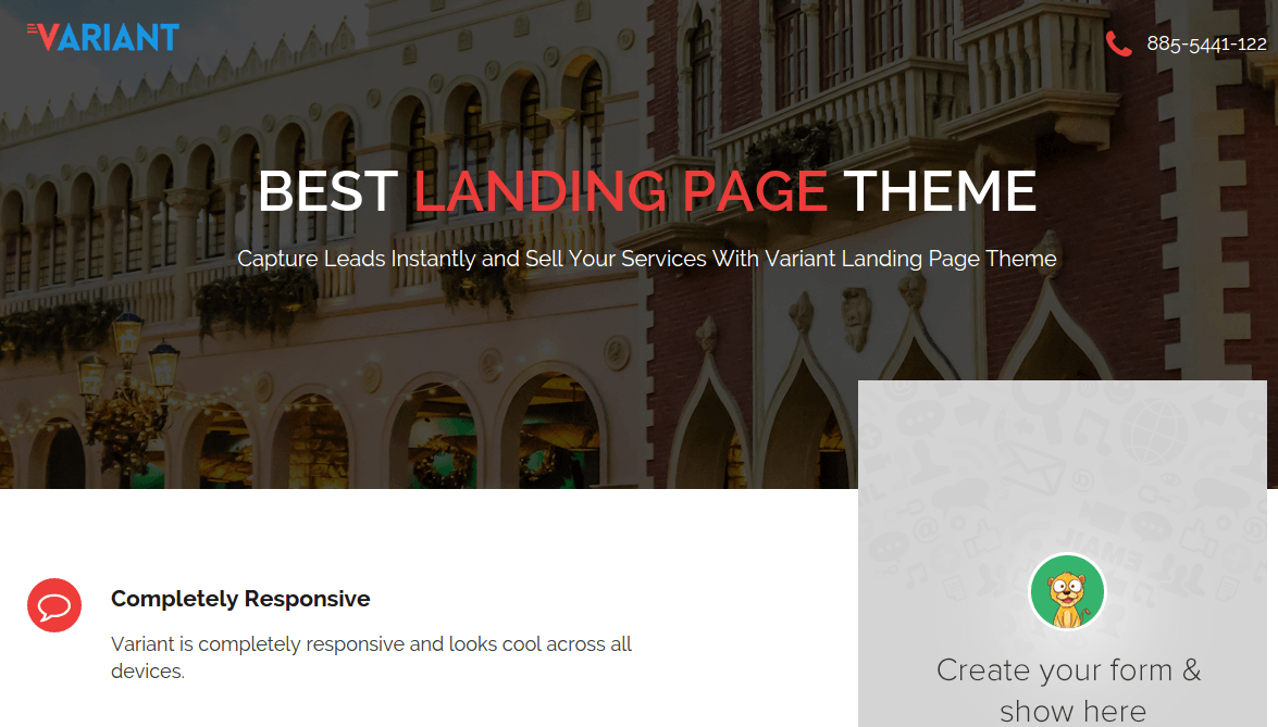 Variant Landing Page Footer