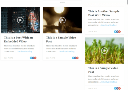 Video posts format of Clear News theme
