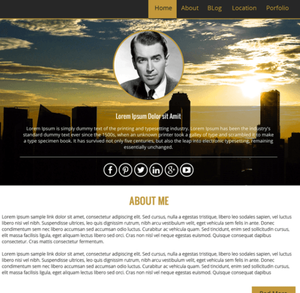 WP Profile - Blogging WordPress theme