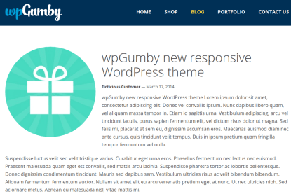 WPGumby Blog Page