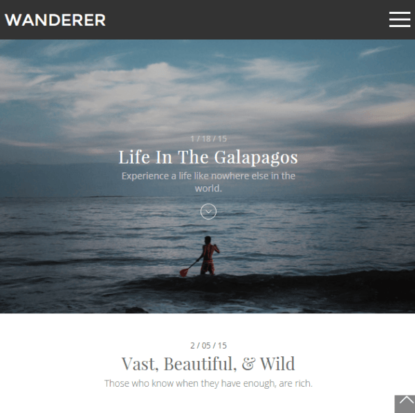 Wanderer- A beautiful WordPress Blog theme