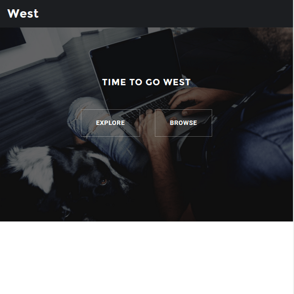 West Responsive Business Theme