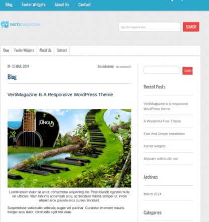 VertiMagazine is a responsive WordPress Theme made for people who love beautiful typography