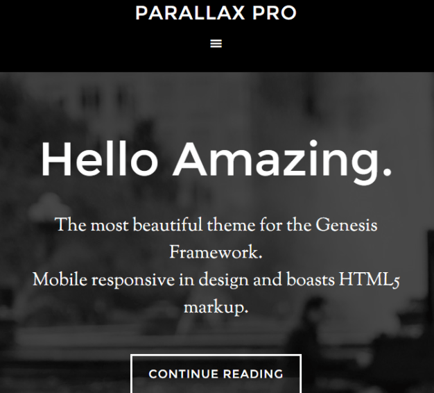 parallax pro- Landing page template