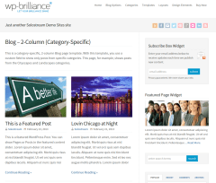 2 Column Blog Layout  WP-Brilliance
