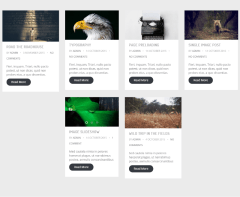 4-column blog grid of Make  theme