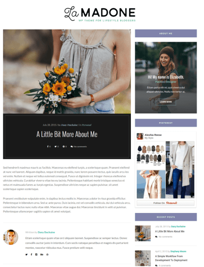 About Me Page - LaMadone