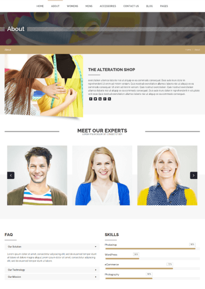 About Page - Alteration Shop