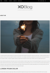 About page of Xo Blog