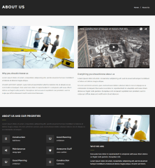 About us page of Construct theme