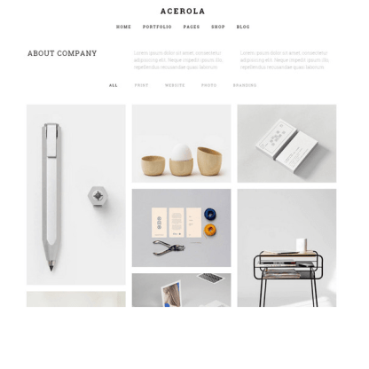 Acerola - Minimalist agency WordPress theme