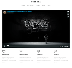 Acerola – homepage with video