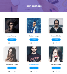 Author's list of Daily Post theme