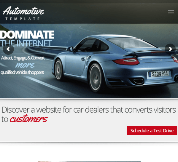 Automative Car Dealership – Business WordPress theme.