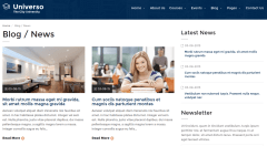 Blog grid page of Universo