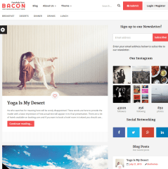 Blog page of Bacon