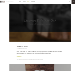 Blog page of Corso Theme