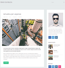 Blog page of FlatApp theme