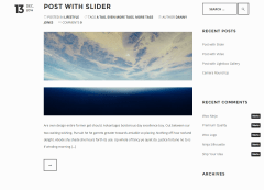 Blog page of Piper theme
