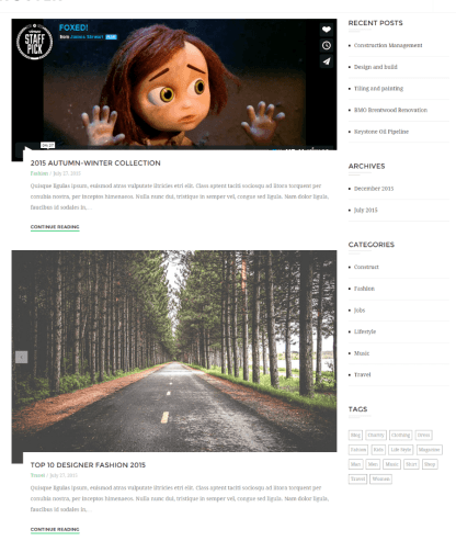 Blog page of Ri Ghoster theme