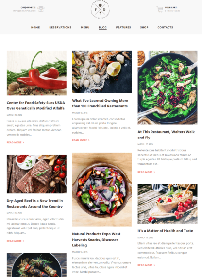 Blogs Page Food & Drink