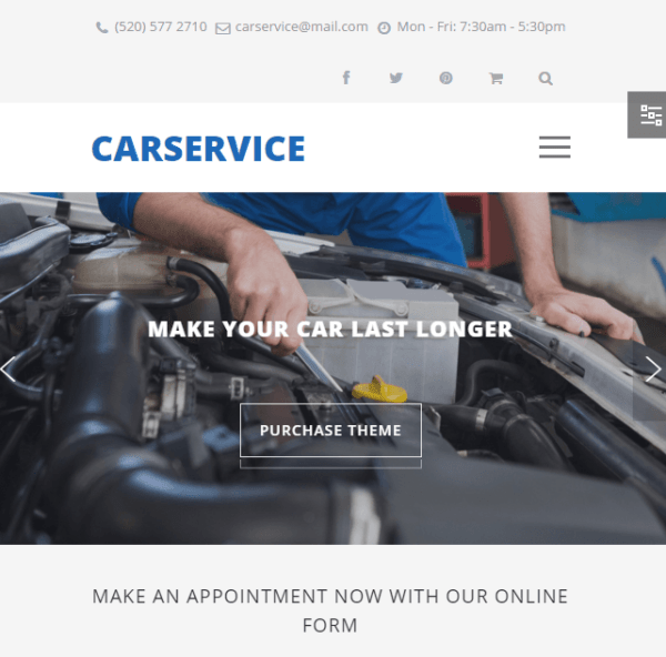 Car Service – Mechanic autoshop Responsive WordPress theme