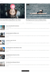 Category layout of Magazine vibe theme