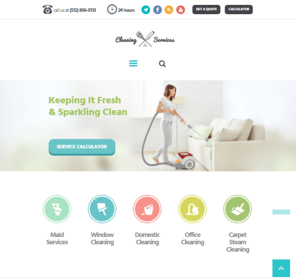 Cleaning company – Maid and Janitorial service WP theme