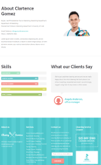 Cleaning company – Team page